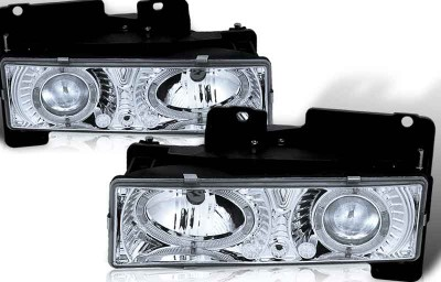 custom chevy chevrolet headlights halo led chrome