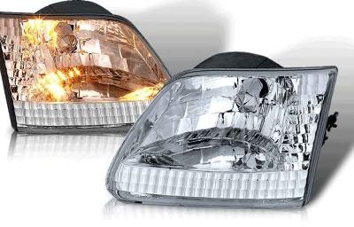 custom ford f150, headlights, chrome