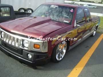 Chevrolet silverado 1500 with Hummer converasion front end