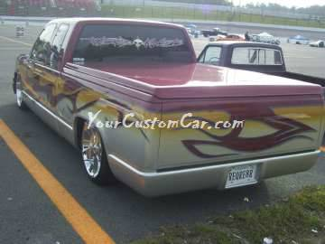Chevrolet silverado 1500 with tribal paint custom tailgate rollpan