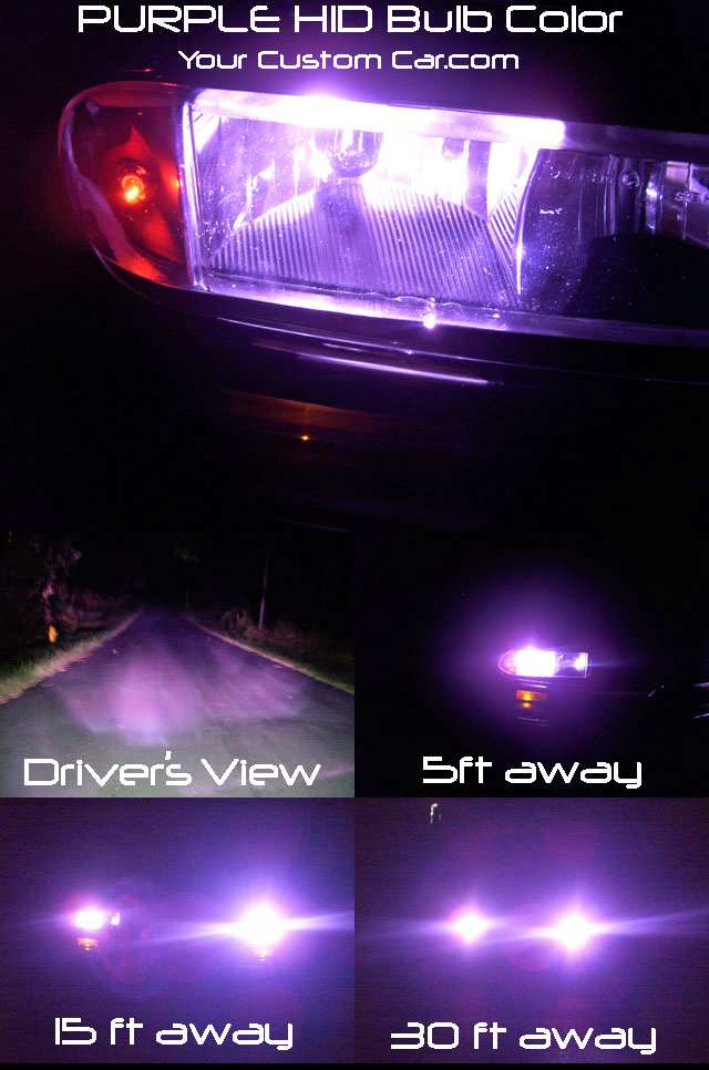 purple HID bulb color installed