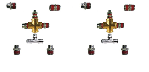 "air fitting kit, air suspension fitting kit, 1/2"", half inch, front back, fittings for air bag suspension, fitting kit"