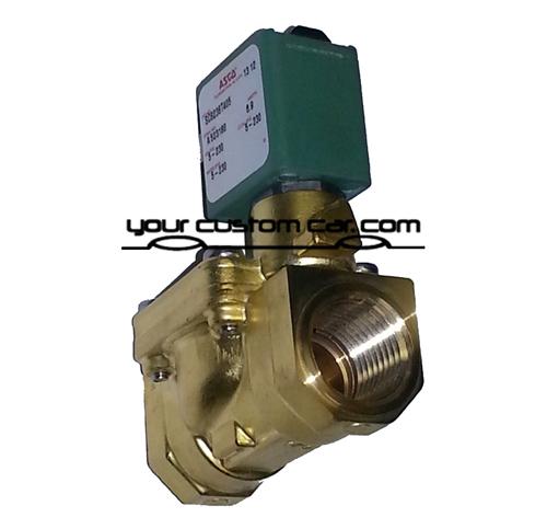 air bag valve, air suspension valve, fast valves, 1/2 inch, npt, thread, 12 volt air, air bags, lowrider, minitruck