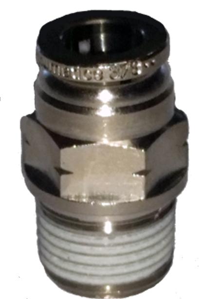 air fitting, air bag suspension, 3/8 inch, push to connect, metal, air ride, air bag, ptc-3838