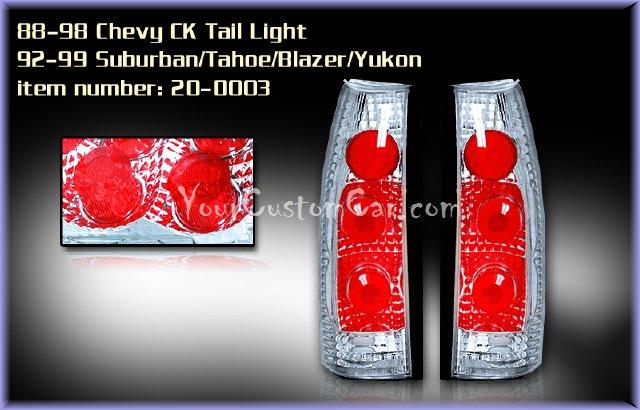 chevrolet silverado tail lights, custom tail lights, chrome tail light, silverado tail light, sierra tail light, chevrolet taillights