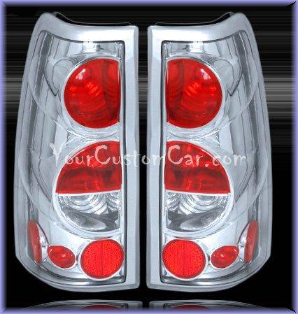 chevrolet silverado tail lights, custom tail lights, chrome tail light, silverado tail light, sierra tail light, 99-06 chevrolet taillights