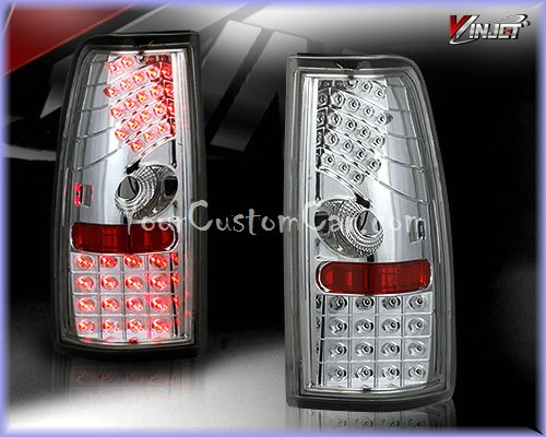 silverado led taillights, sierra led taillights, custom silverado, custom sierra, 99-06, chevrolet led