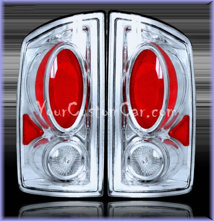 dodge ram tail lights, custom tail lights, chrome tail light, ram tail light, srt tail light, 02-06 dodge taillights