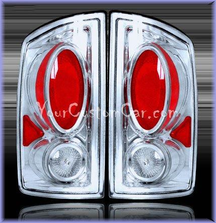dodge ram tail lights, custom tail lights, chrome tail light, ram tail light, srt tail light, 02-06 dodge taillights