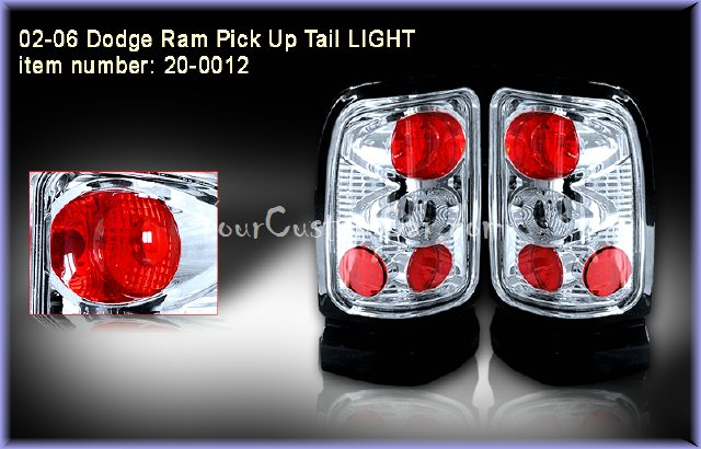 dodge ram tail lights, custom tail lights, chrome tail light, ram tail light, srt tail light, 94-01 dodge taillights