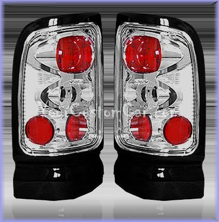 dodge ram tail lights, custom tail lights, chrome tail light, ram tail light, 94-01 dodge taillights