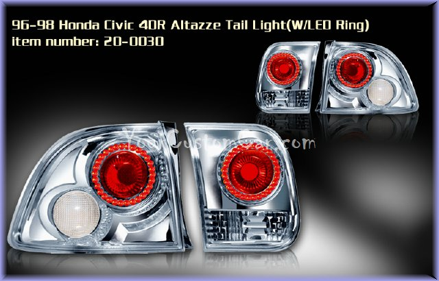 civic tail lights, custom tail lights, custom taillight, honda civic tail light, custom civic, honda taillights