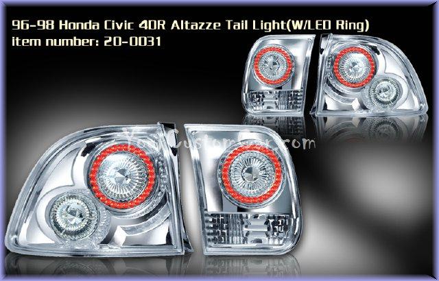civic tail lights, custom tail lights, custom taillight, honda civic tail light, custom civic, honda taillights