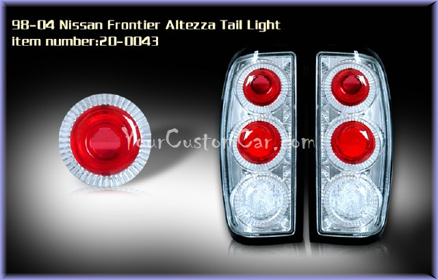 nissan frontier tail lights, custom tail lights, custom minitruck taillight, nissan frontier tail light, custom frontier, nissan taillights