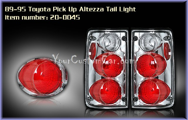 toyota pick uptail lights, custom tail lights, custom minitruck taillight, toyota tail light, custom toyota pick up, toyota taillights