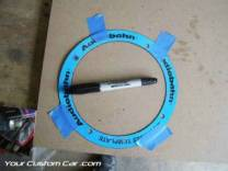 custom door panel speaker template