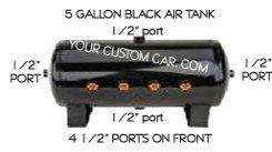 air, suspension, tank, aluminum, black, steel, 3, 5, 7, gallon
