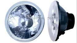 sealed beam conversion, 7 inch round, headlights, diamond clear, hot rod headlights, universal head lights