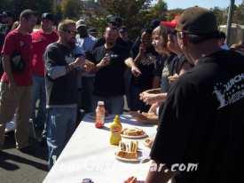 Drop em wear show hot dog eating competition