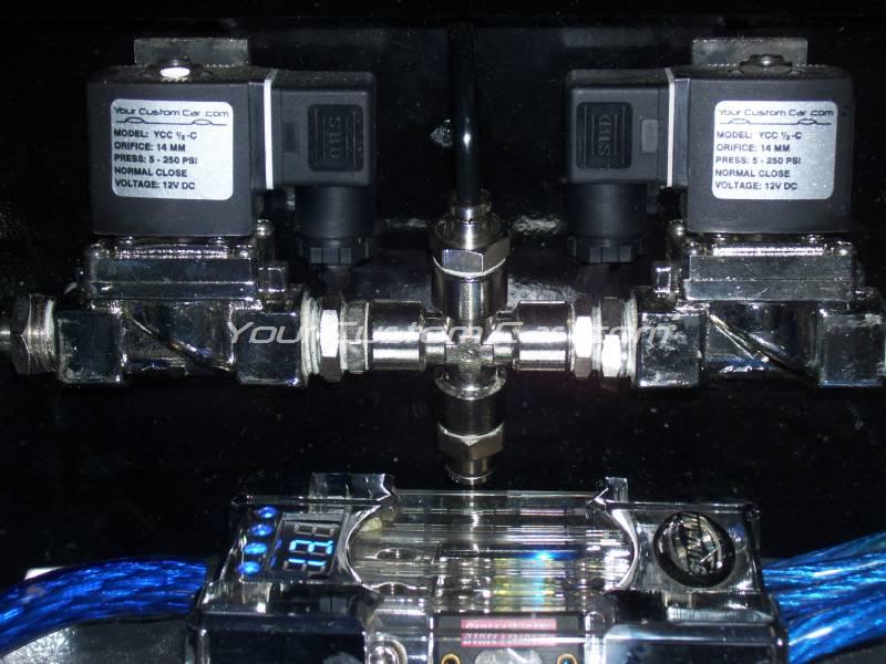 air fitting, air bag suspension, 3/8 inch, 1/4 inch, push to connect, metal, air ride, air bag, ptc-3814