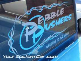 drop em wear show, car truck show, custom minitruck, custom car, pebble pushers