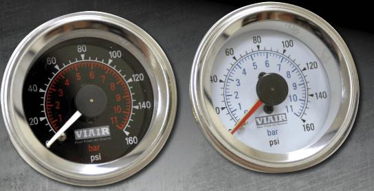 air, gauge, viair, 160, psi, dual, 2, needle, air suspension, tank