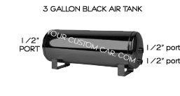air, suspension, tank, 3, 5, 7, gallon