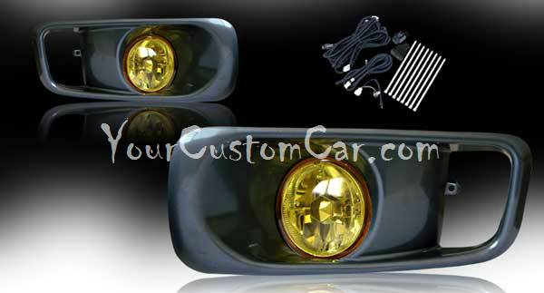 99, 2000, 00, honda civic si fog lights, type r fog, performance lights, oem style, jdm