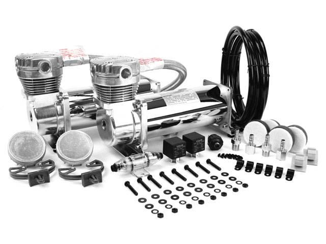 viair 480c, chrome air compressor, dual pack, air bag suspension compressor, air system, on board air, 12 volt air compressor, best air compressor