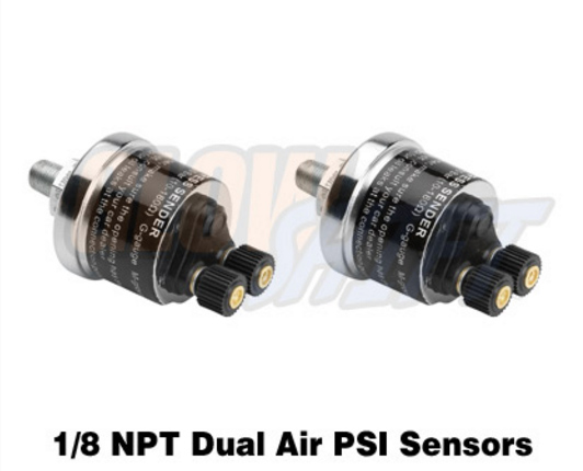 air pressure sensor for dual digital air suspension gauge