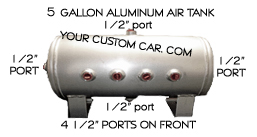 air tank, gallon, air bag suspension, compressor