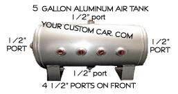 air tank, gallon, air bag suspension, compressor