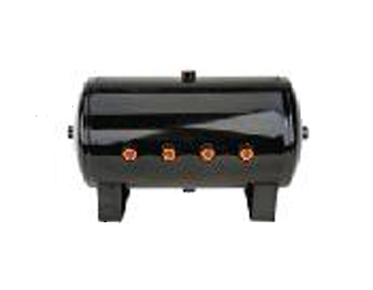 air tank, 5 gallon, black, 1/2 inch ports, 8 port