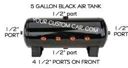 air, suspension, tank, aluminum, black, steel, 3, 5, 7, gallon