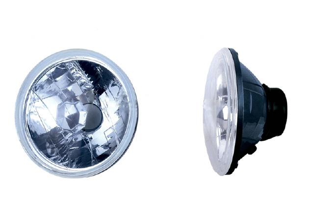 conversion headlights, 7 inch headlights, hot rod lights, sealed beam replacement, h4 bulbs