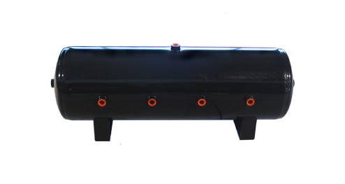 air tank, 7 gallon, black, 1/2 inch ports, 7 port