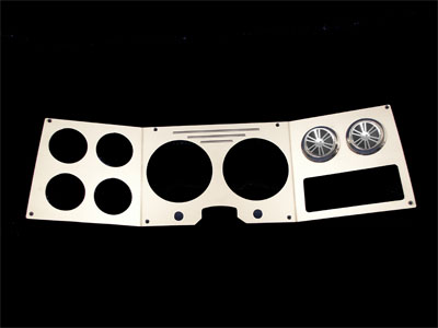 81-87, gmc, dash, gauge cluster, with vents, polished, empire 81-87pasp