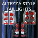 custom tail lights, taillights, altezza, chrome, black, smoke