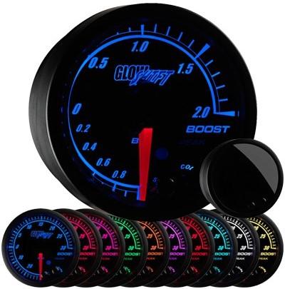 black elite boost gauge, bar, boost gauge, led boost gauge, 10 color boost gauge, turbo gauge