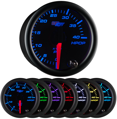 black face oil pressure gauge, hi pressure oil gauge, led oil pressure gauge