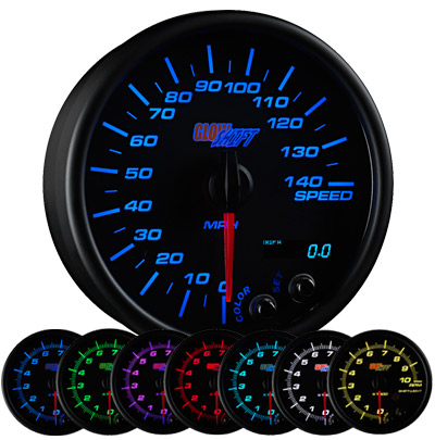 7 color speedometer, led speedometer gauge, speedometer gauge, black speed gauge, led speed gauge