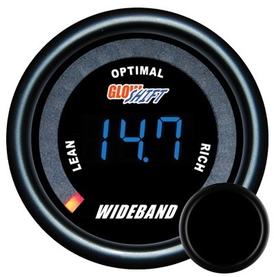 tinted wide band air fuel ratio gauge, wideband air fuel ratio gauge, black afr gauge, led afr gauge, wide band afr gaugetinted