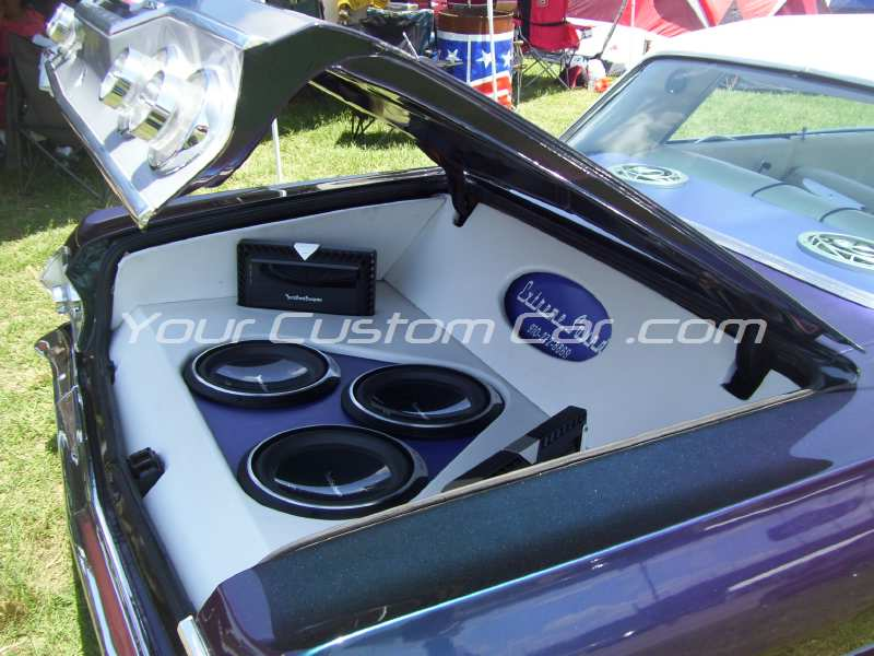 the big show 2009 09 custom 63 impala subwoofers speakers trunk six tre