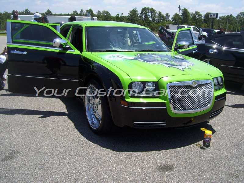 the big show 2009 09 custom paint 300c green and black