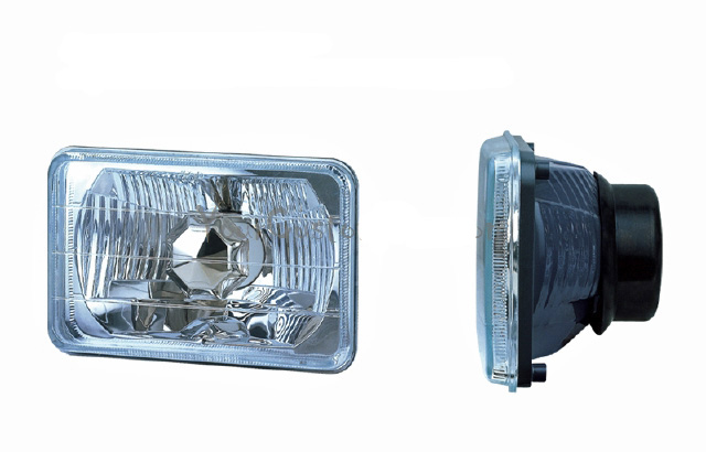 conversion headlights, 5 inch headlights, hot rod lights, sealed beam replacement, h4 bulbs