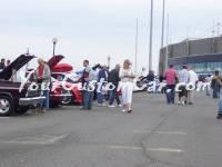 Crowds near the custom fords
