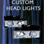 custom head lights, car head lights, headlights, custom, truck, projector
