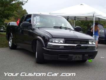 drop em wear show, car truck show, custom minitruck, custom car, custom black s-10