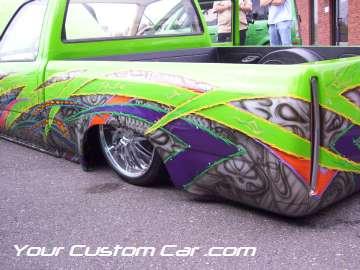 drop em wear show, car truck show, custom minitruck, custom car, custom paint