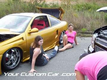drop em wear show, car truck show, custom minitruck, custom car, babes